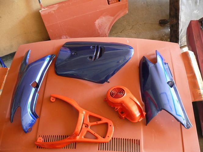 Покраска скутера своими руками | 499x665